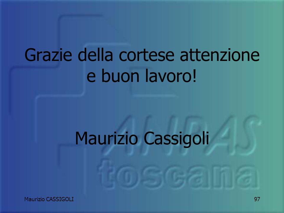 Grazie della cortese attenzione e buon lavoro! Maurizio Cassigoli