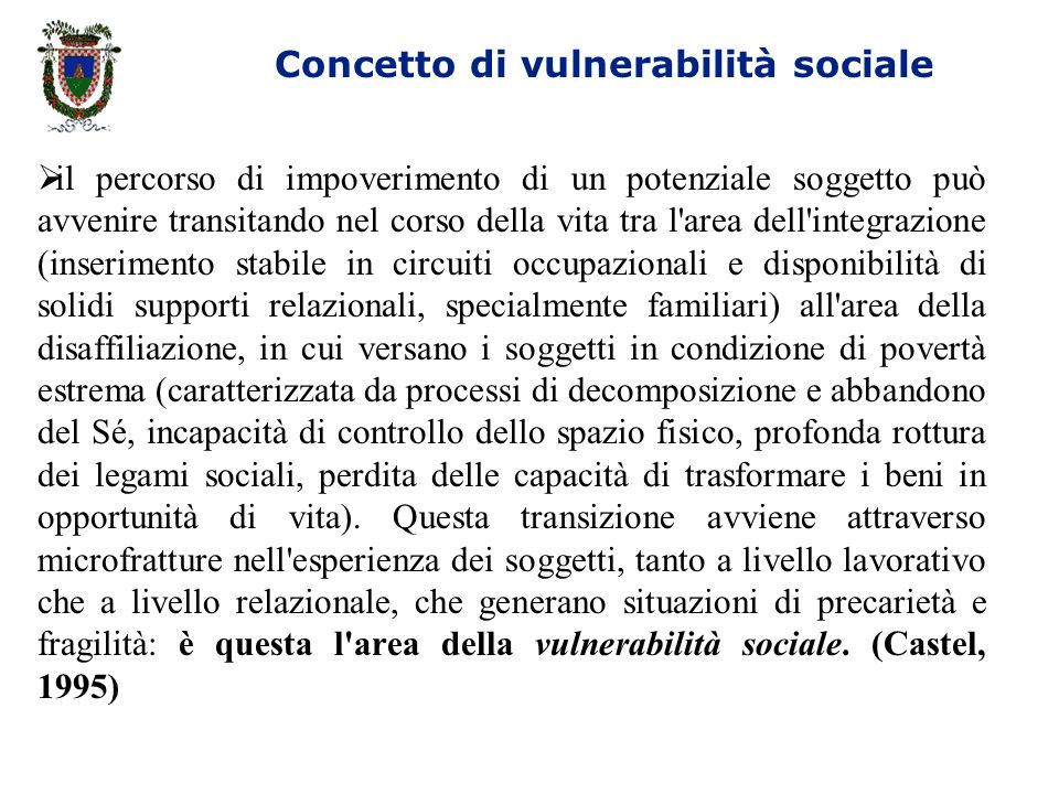 Concetto di vulnerabilità sociale