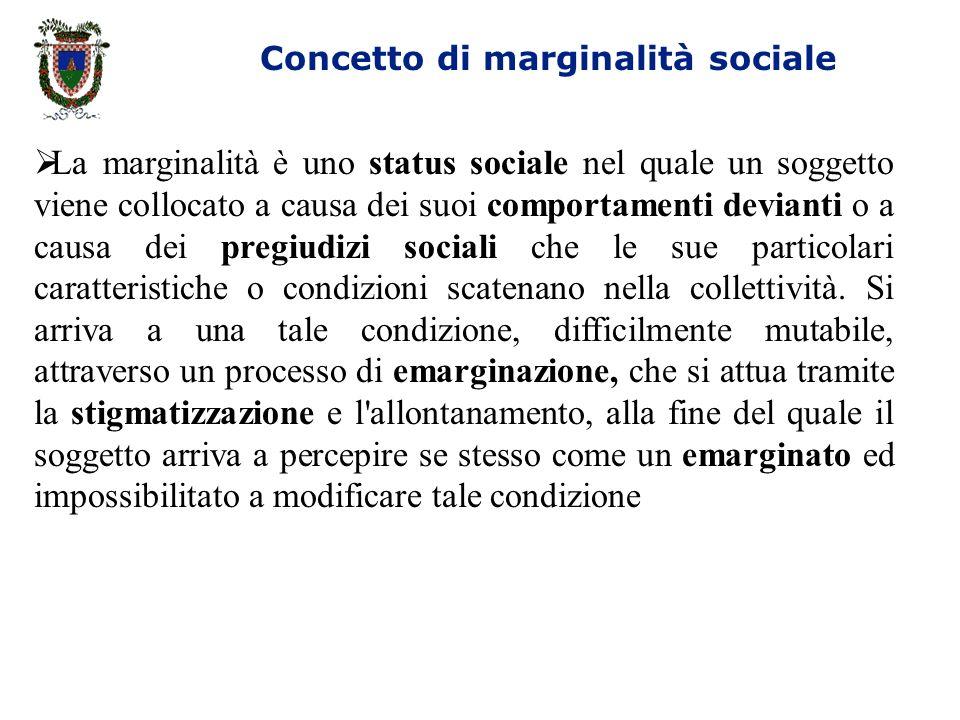 Concetto di marginalità sociale