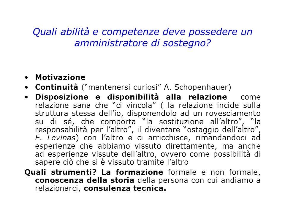 Quali abilità e competenze deve possedere un amministratore di sostegno