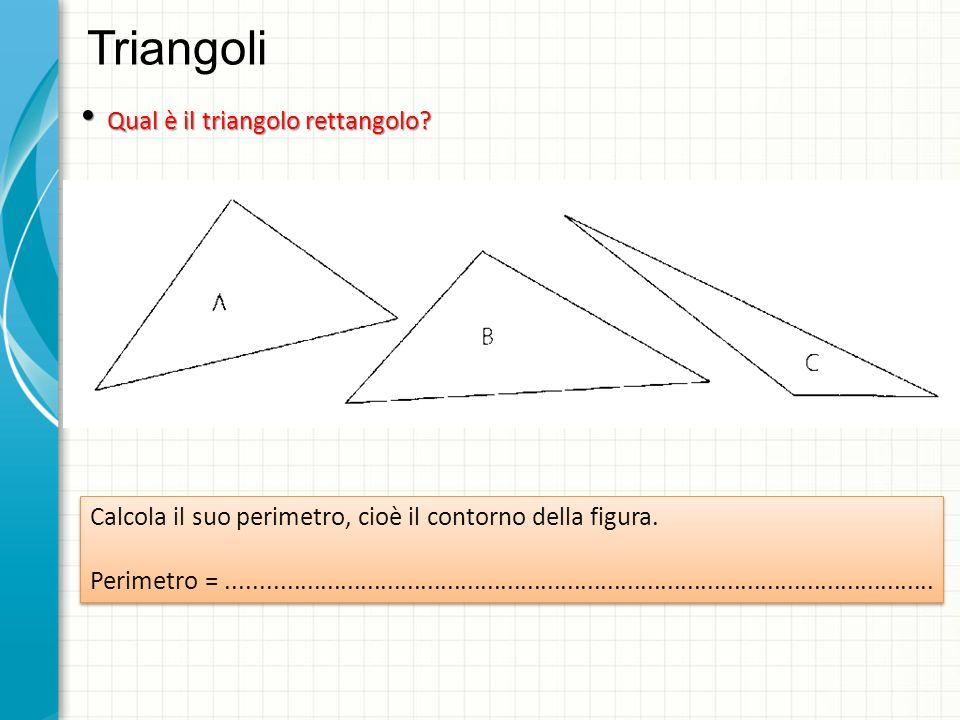 Triangoli Qual è il triangolo rettangolo