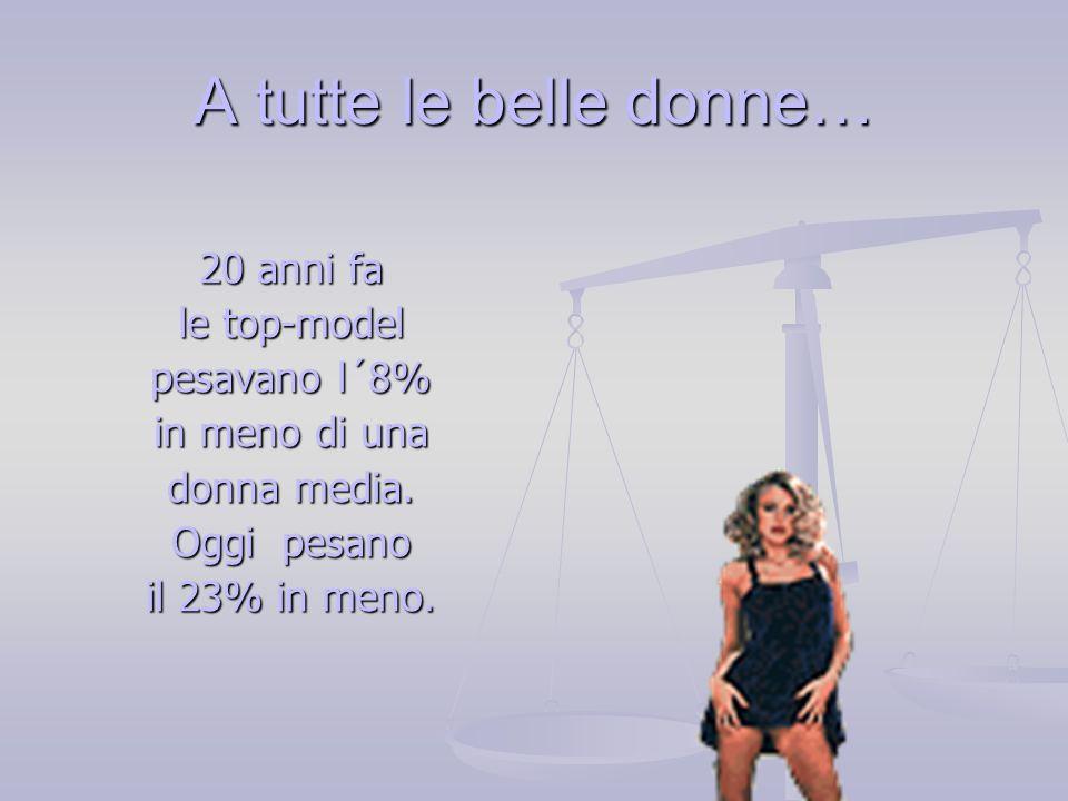 A tutte le belle donne… 20 anni fa le top-model pesavano l´8%