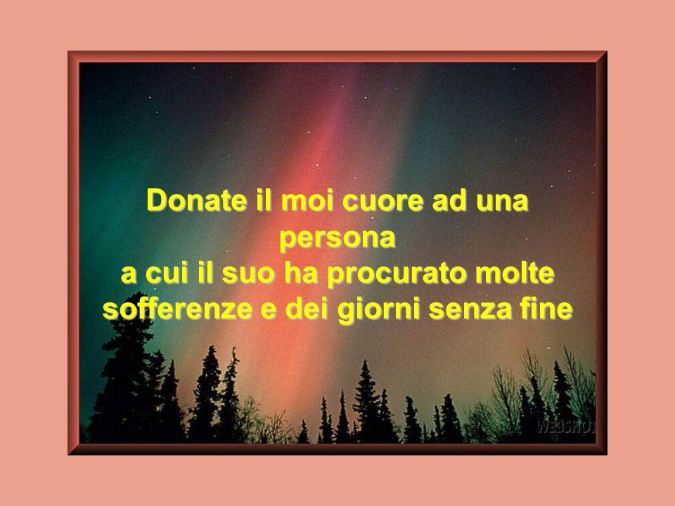 Donate il moi cuore ad una persona
