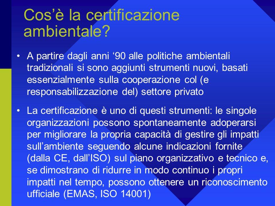 Cos'è la certificazione ambientale