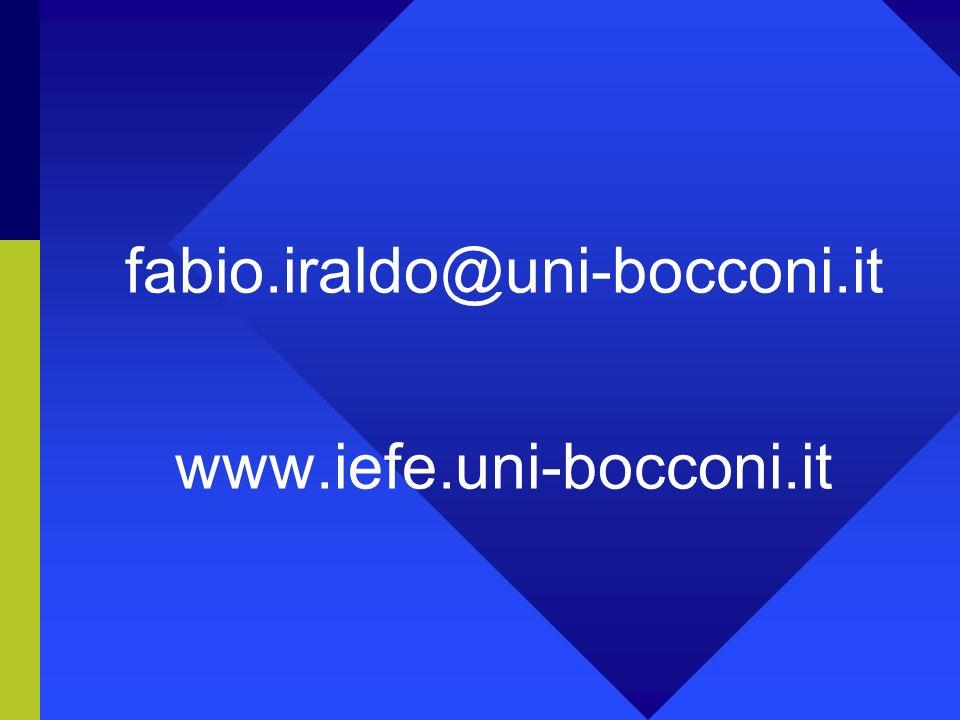 fabio.iraldo@uni-bocconi.it www.iefe.uni-bocconi.it