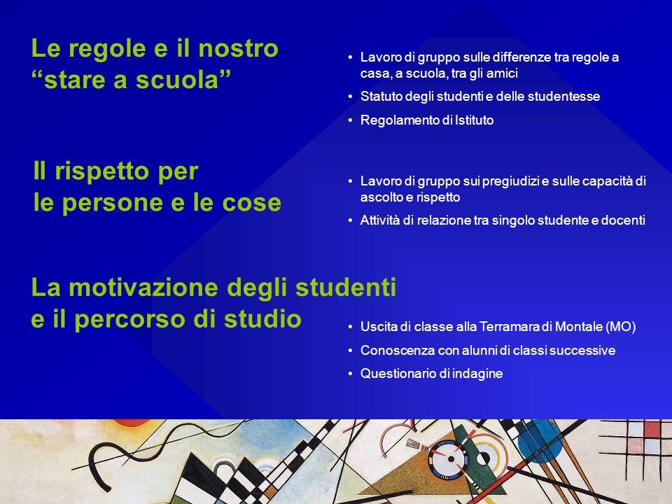 La motivazione degli studenti e il percorso di studio