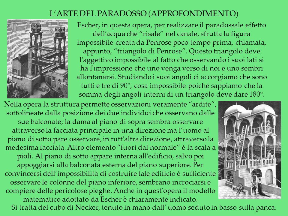L'ARTE DEL PARADOSSO (APPROFONDIMENTO)