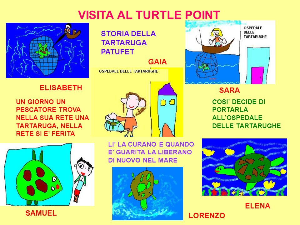 VISITA AL TURTLE POINT STORIA DELLA TARTARUGA PATUFET GAIA ELISABETH