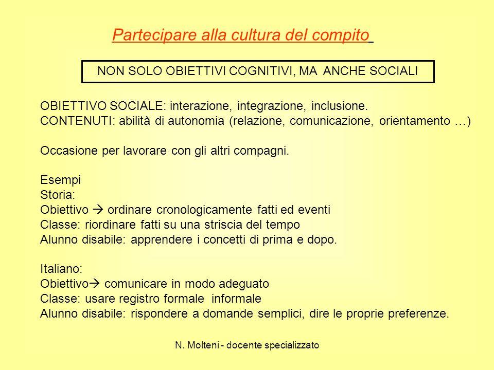 Partecipare alla cultura del compito