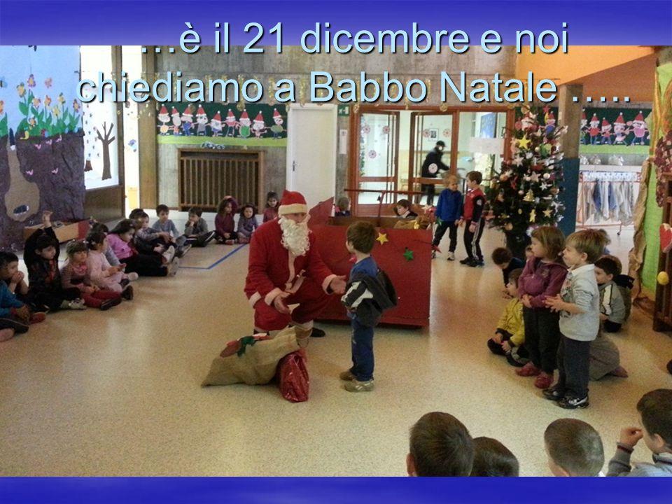 …è il 21 dicembre e noi chiediamo a Babbo Natale …..