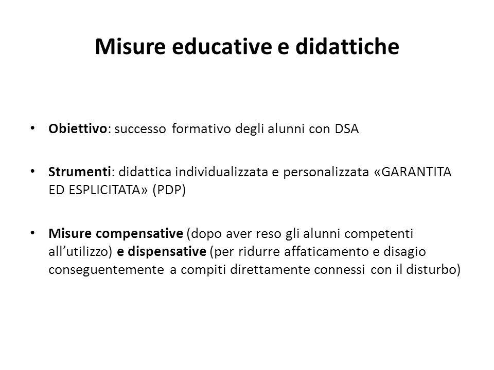 Misure educative e didattiche