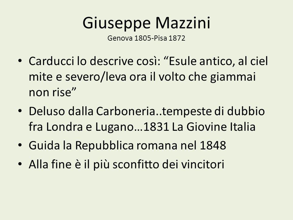Giuseppe Mazzini Genova 1805-Pisa 1872