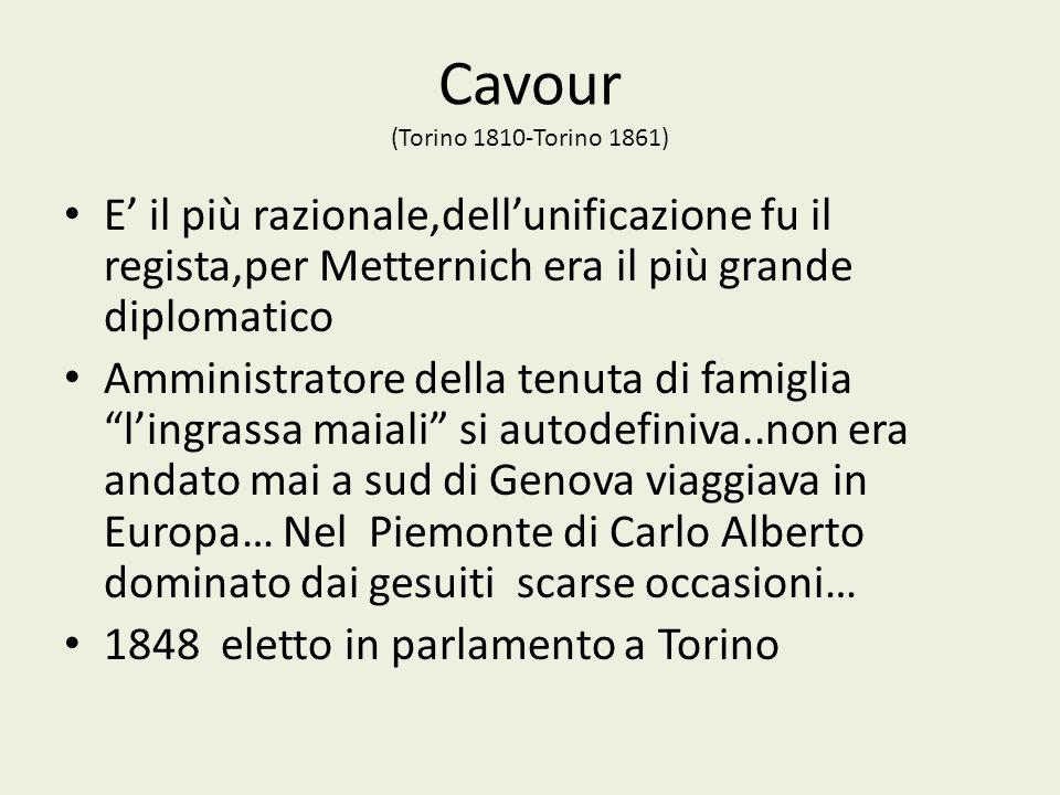 Cavour (Torino 1810-Torino 1861)