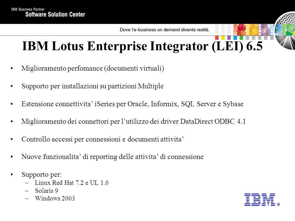 IBM Lotus Enterprise Integrator (LEI) 6.5