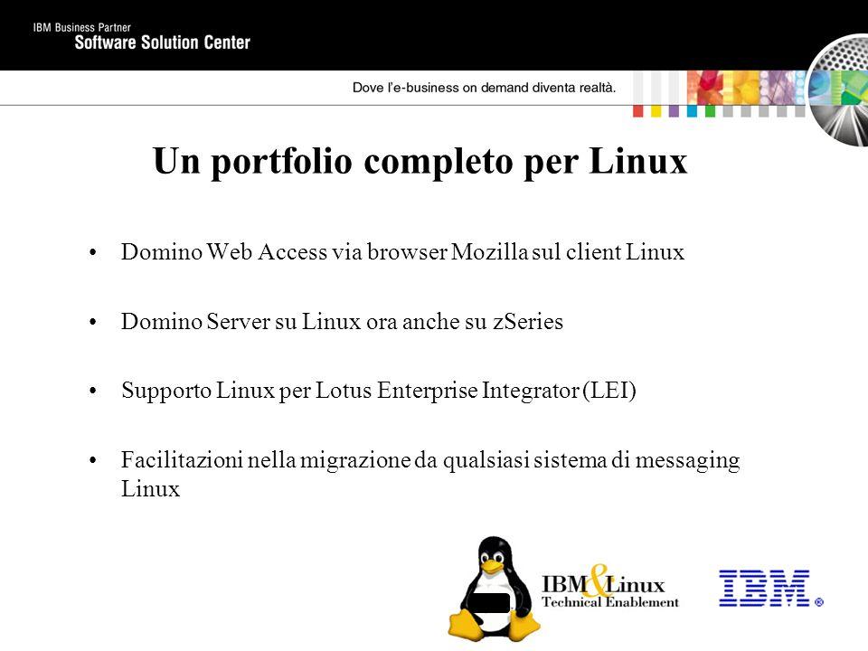 Un portfolio completo per Linux