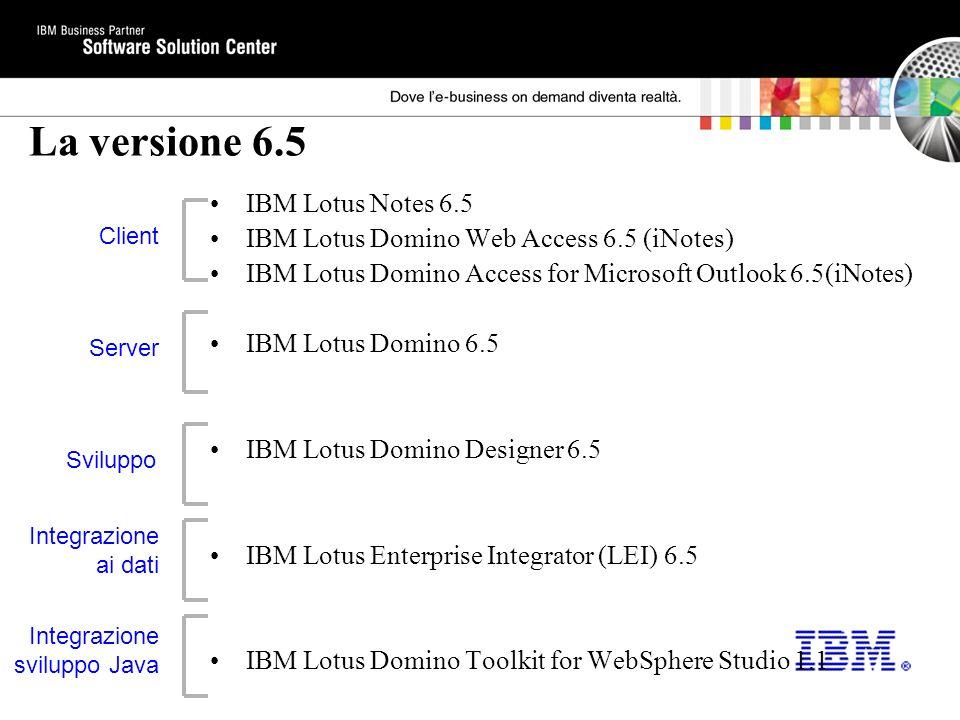 La versione 6.5 IBM Lotus Notes 6.5