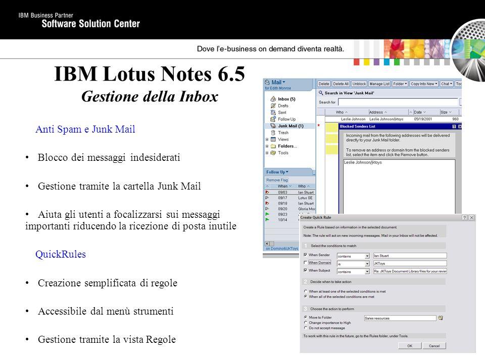 IBM Lotus Notes 6.5 Gestione della Inbox