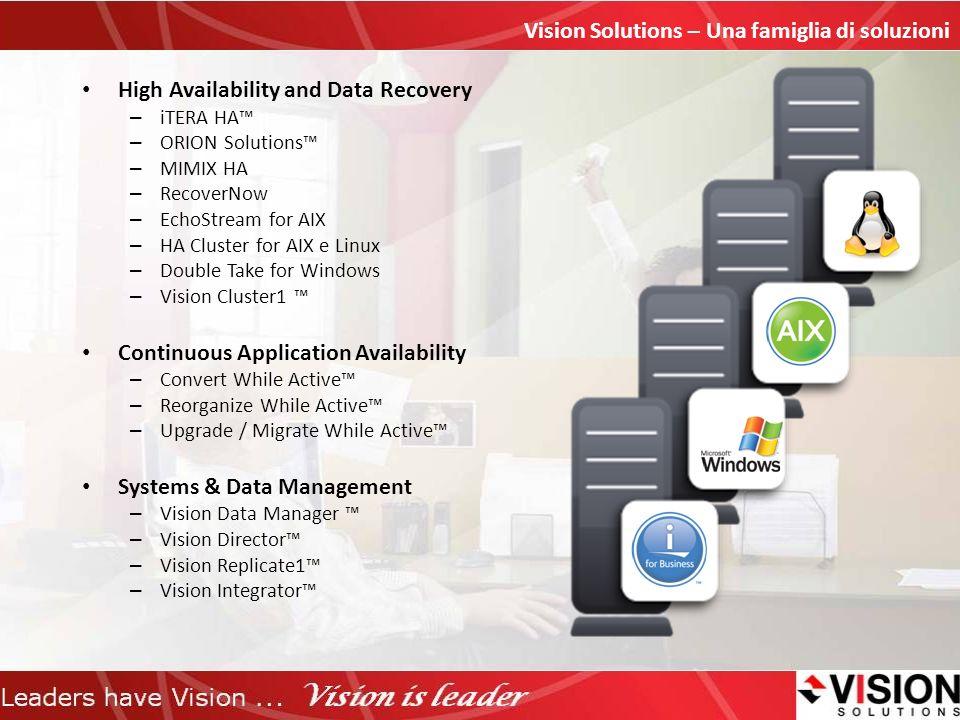 Vision Solutions – Una famiglia di soluzioni