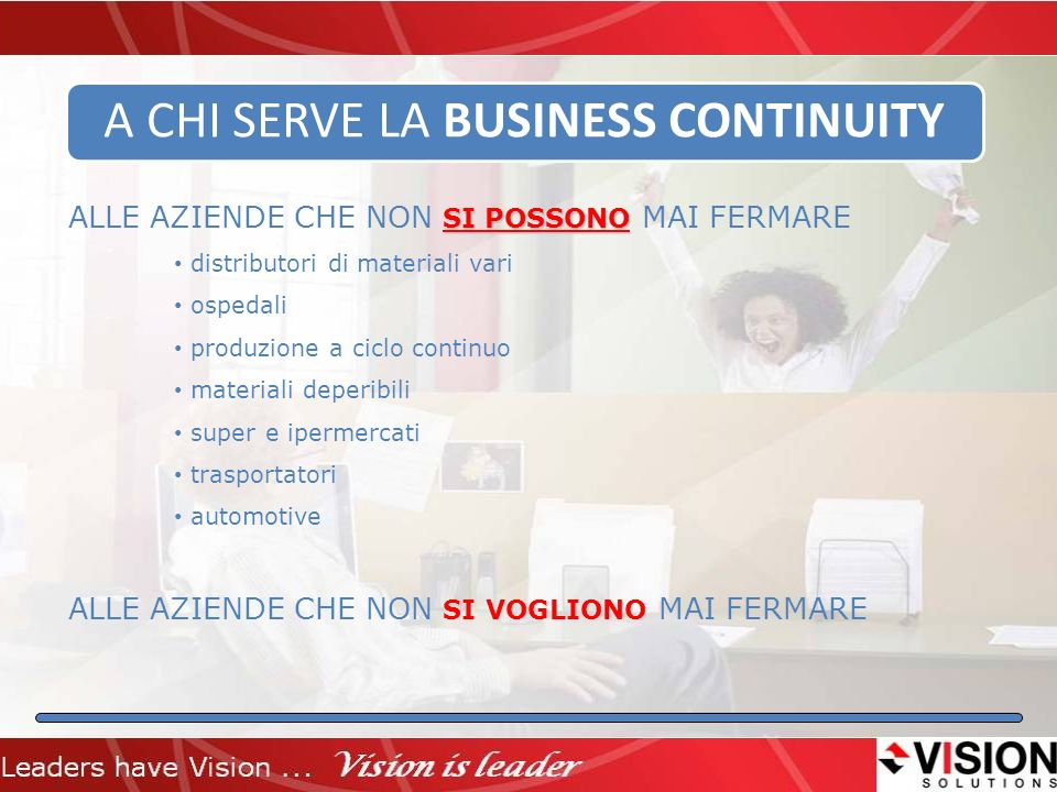 A CHI SERVE LA BUSINESS CONTINUITY
