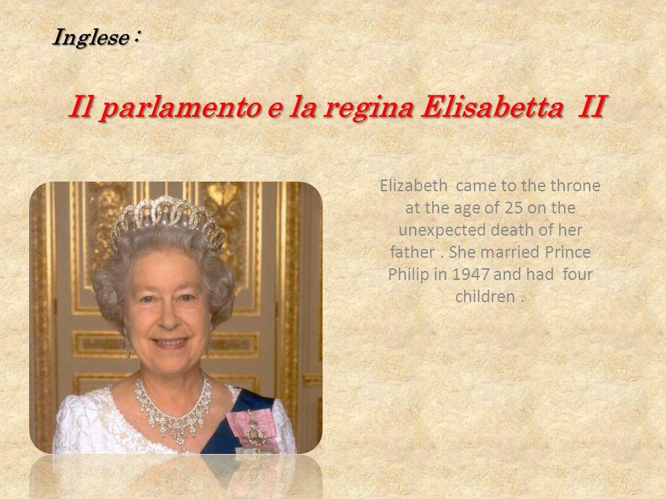 Il parlamento e la regina Elisabetta II