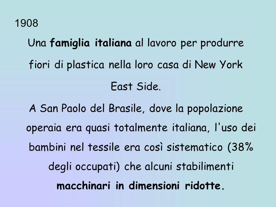 Una famiglia italiana al lavoro per produrre