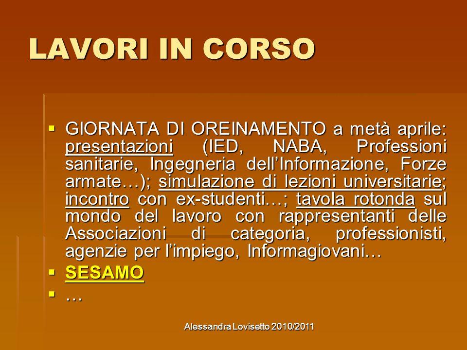Alessandra Lovisetto 2010/2011
