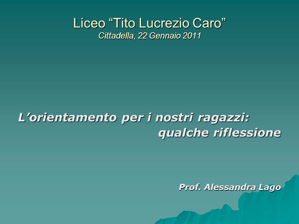 Liceo Tito Lucrezio Caro Cittadella, 22 Gennaio 2011