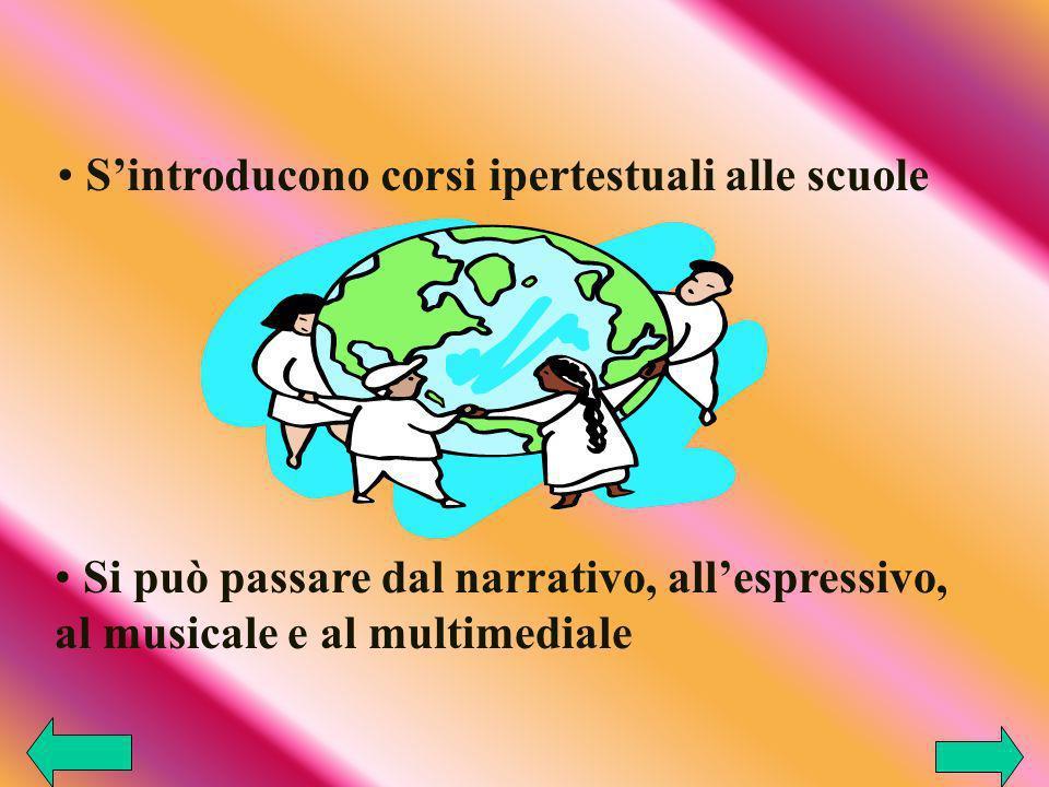S'introducono corsi ipertestuali alle scuole