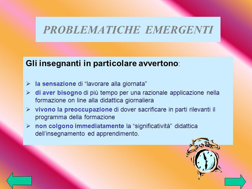 PROBLEMATICHE EMERGENTI