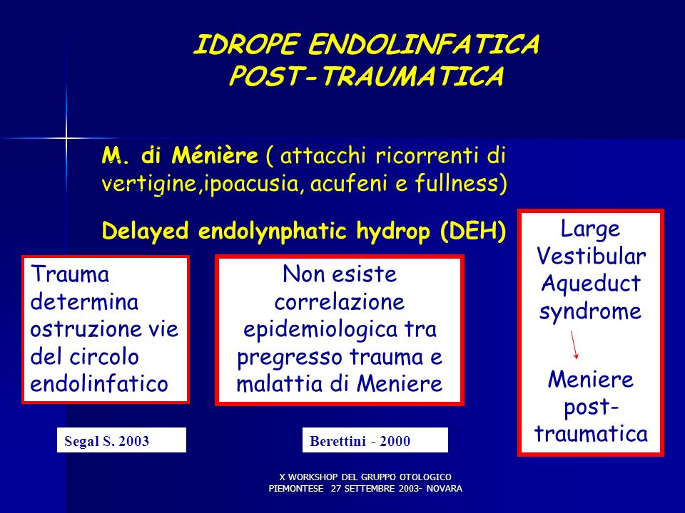 IDROPE ENDOLINFATICA POST-TRAUMATICA