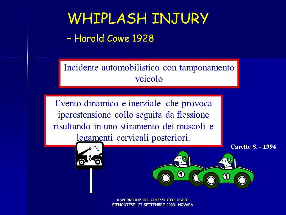 WHIPLASH INJURY COLPO DI FRUSTA (1) – Harold Cowe 1928