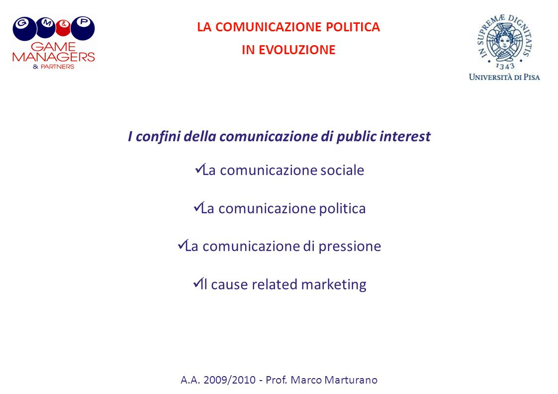 I confini della comunicazione di public interest