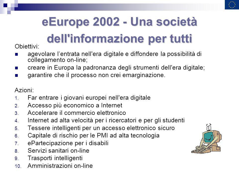 eEurope 2002 - Una società dell informazione per tutti