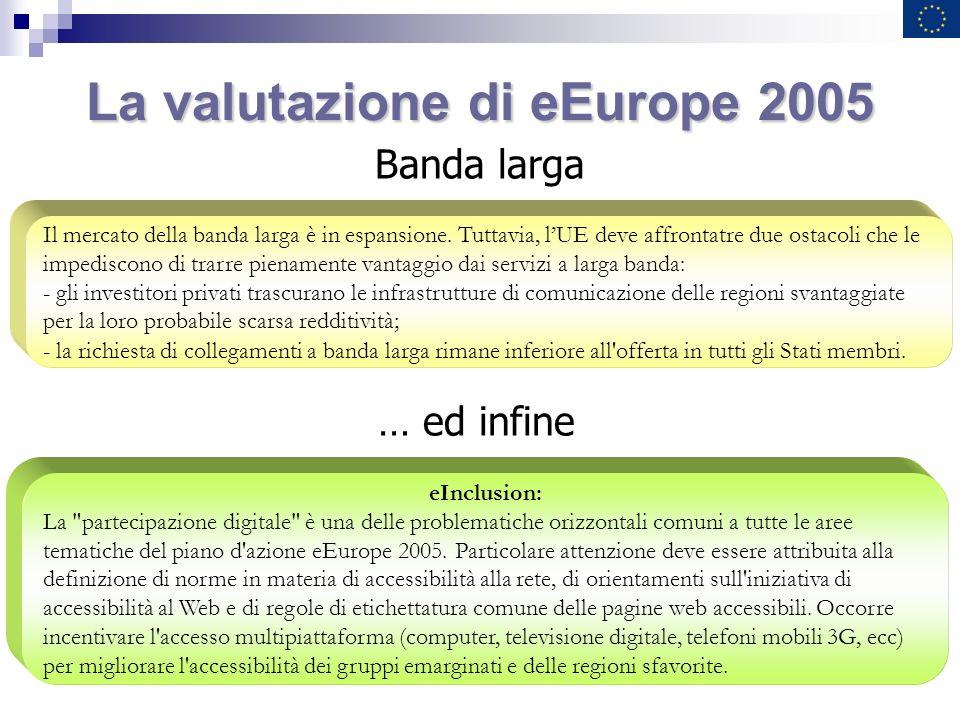 La valutazione di eEurope 2005