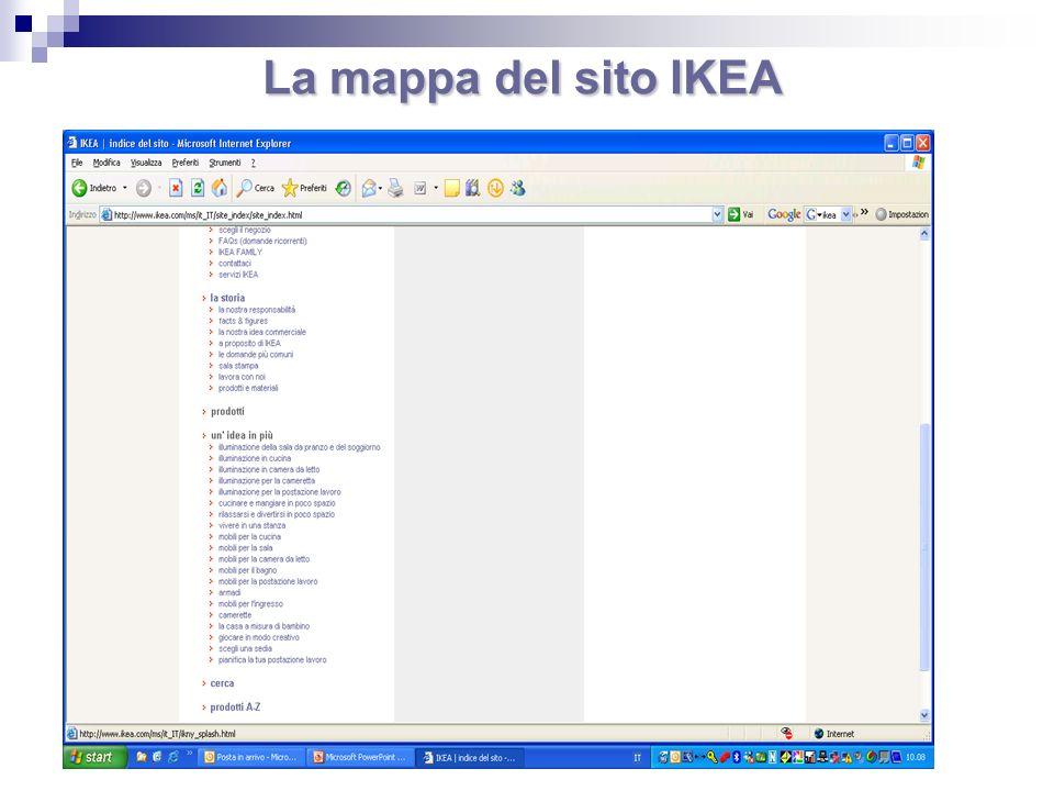 La mappa del sito IKEA