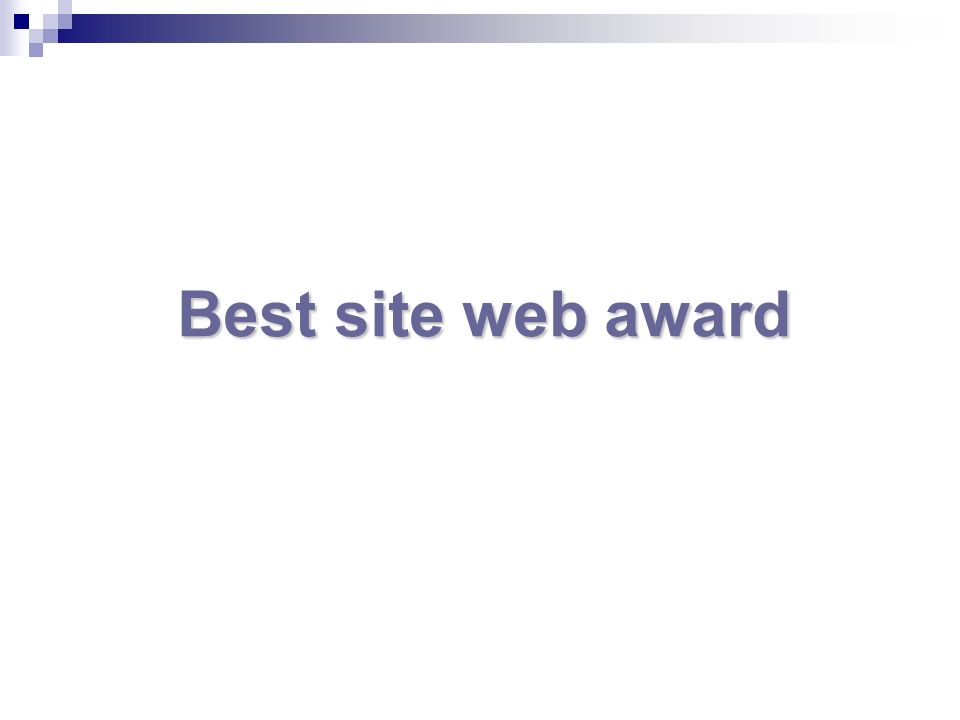 Best site web award
