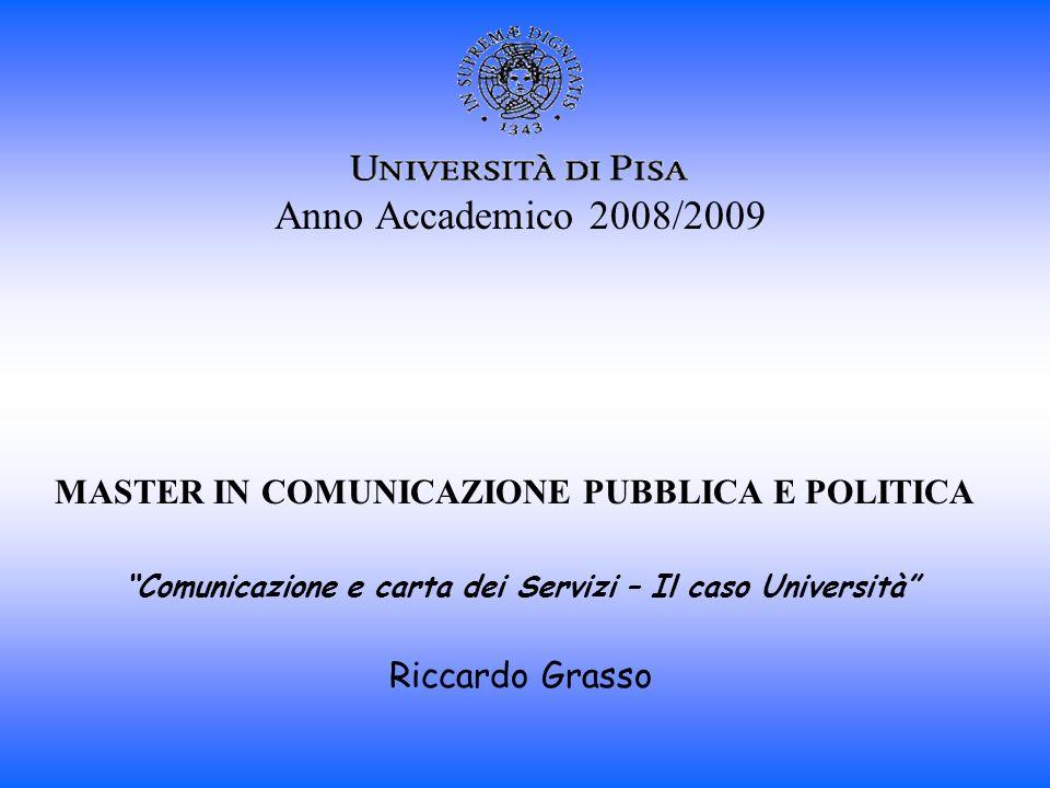 Comunicazione e carta dei Servizi – Il caso Università