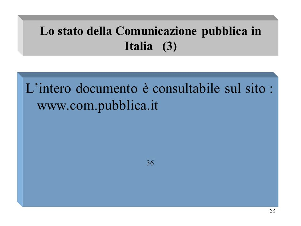 Lo stato della Comunicazione pubblica in Italia (3)
