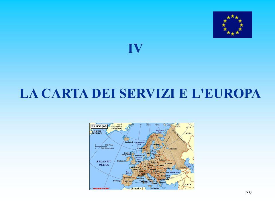 LA CARTA DEI SERVIZI E L EUROPA