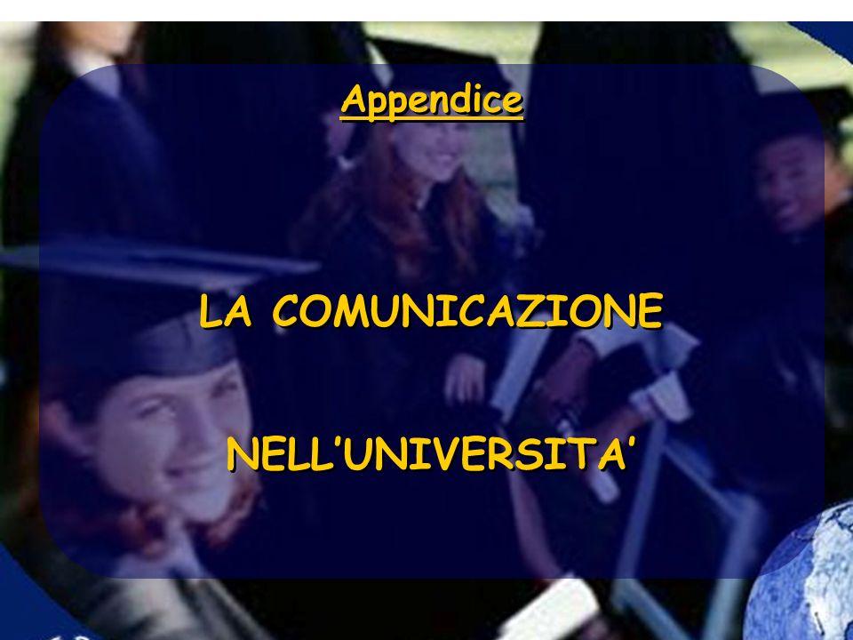 LA COMUNICAZIONE NELL'UNIVERSITA'