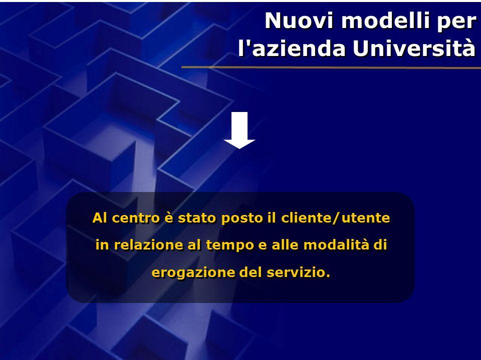Nuovi modelli per l azienda Università