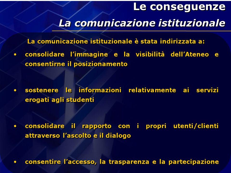 La comunicazione istituzionale è stata indirizzata a: