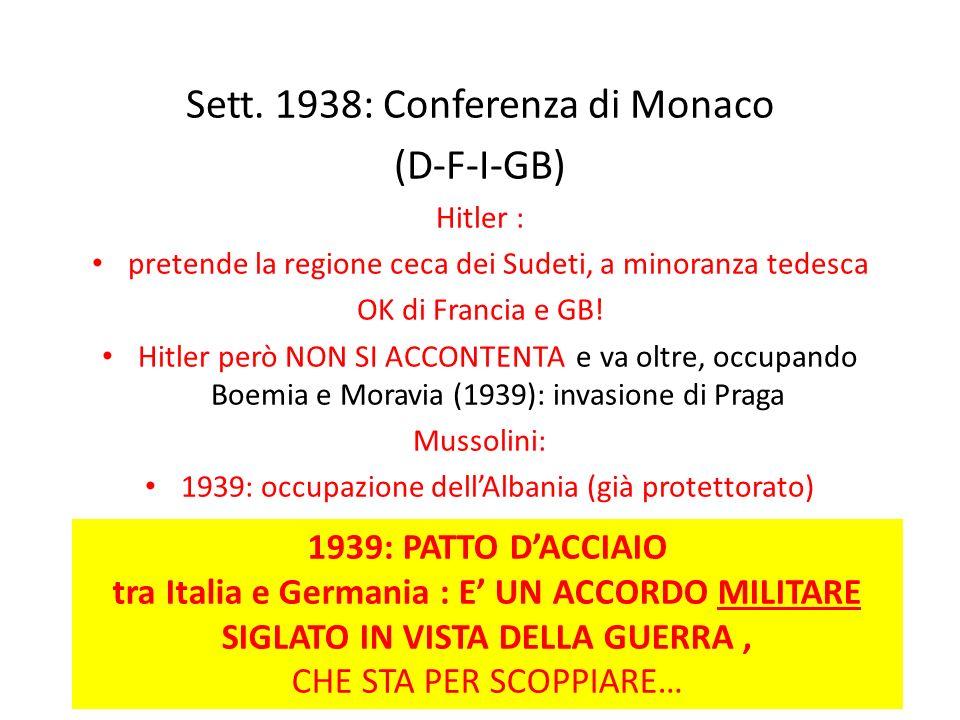 Sett. 1938: Conferenza di Monaco (D-F-I-GB)