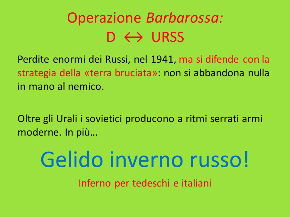Operazione Barbarossa: D ↔ URSS