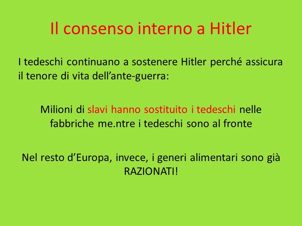 Il consenso interno a Hitler