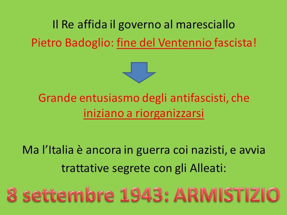 8 settembre 1943: ARMISTIZIO