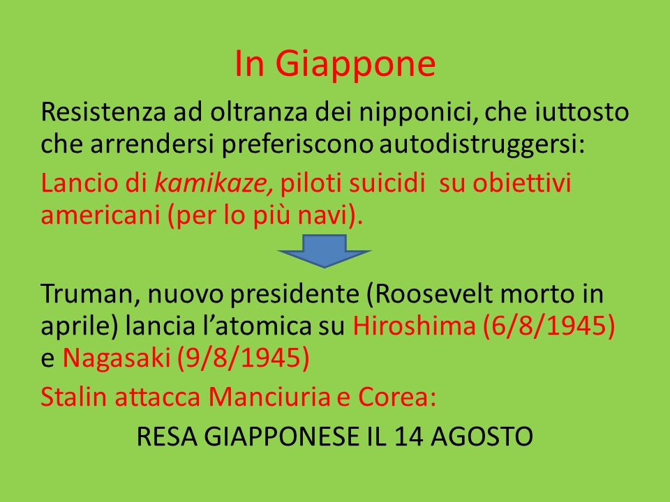 In Giappone