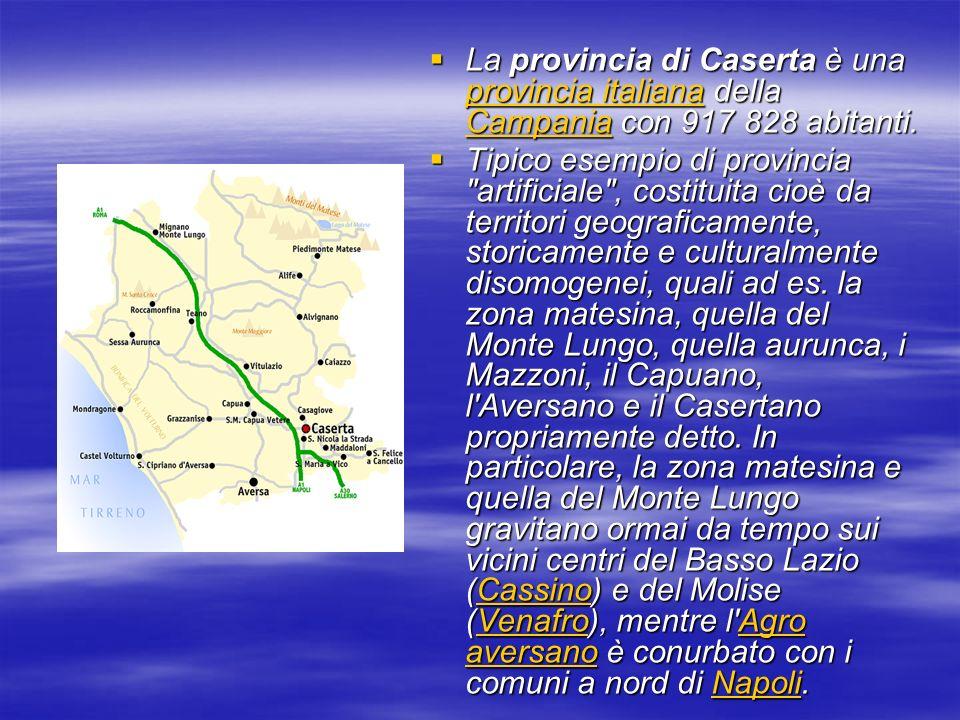 La provincia di Caserta è una provincia italiana della Campania con 917 828 abitanti.