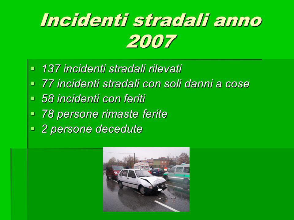 Incidenti stradali anno 2007