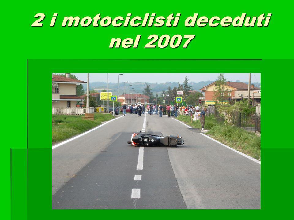 2 i motociclisti deceduti nel 2007
